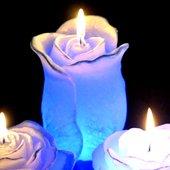 """Свеча """"Роза"""", фигурка со встроенной подсветкой, 7х12см Bartek Candles 5907602659979"""