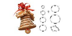 Рождественский колокольчик, набор форм Tescoma DELICIA 631410