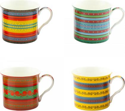 Набор кружек Африканский текстиль 200мл, 4шт Leonardo Collection LP92349