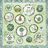 Салфетки для декупажа Садовый сезон, 33x33см, 3 слоя, 20шт Paper+Design 21665