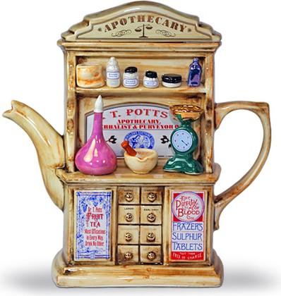 """Чайник заварочный """"Чайный аптекарь"""" (шкаф с лекарствами) The Teapottery 4406"""
