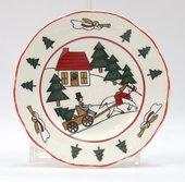 Тарелка 15см Рождественская деревенька Masons 56533401001