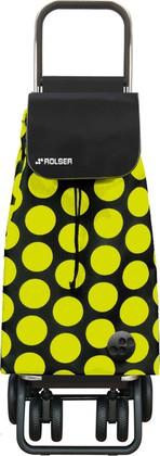 Сумка-тележка хозяйственная на колёсах чёрная с жёлтым Rolser LOGIC TOUR PAC052negro/lima