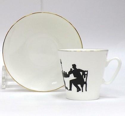 Чашка с блюдцем Гость, ф. Чёрный кофе ИФЗ 81.14927.00.1