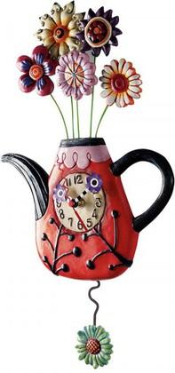 """Настенные часы """"Цветочный чай"""", 42см Enesco P9014"""