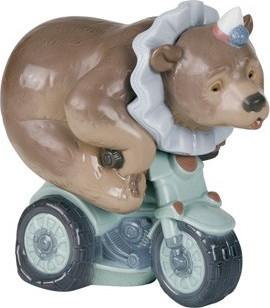 Статуэтка фарфоровая Цирковой мишка (I Do Tricks) 16см NAO 02001495