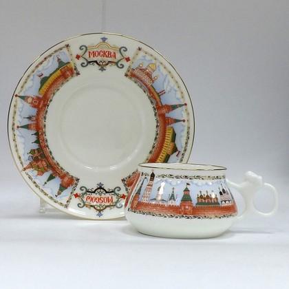 Чашка с блюдцем Московский Кремль, ф. Билибина ИФЗ 81.15932.00.1