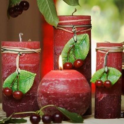 "Bartek Candles FRUITS RUSTIC Свеча ""Спелые фрукты"" - образ коллекции E, блок 70х70х140мм, артикул 5907602647945"