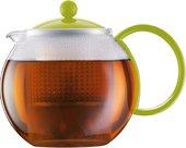 Чайник заварочный с прессом, 1.0л зелёный Bodum ASSAM 1844-565