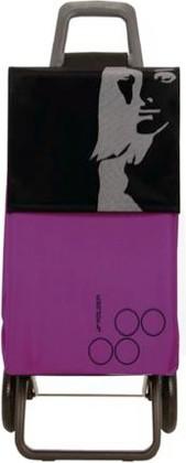 Сумка-тележка хозяйственная фиолетово-чёрная Rolser RG PARIS PAR017malva