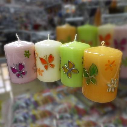 "Свеча ""Мотыльки"", колонна 7х10см Bartek Candles 232011"