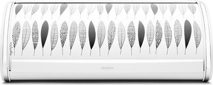 Хлебница стальная с крышкой и чёрно-белым рисунком Pauline Brabantia 484827