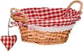 Корзинка для xлеба круглая, красная клетка, 23см Premier Housewares 1901052