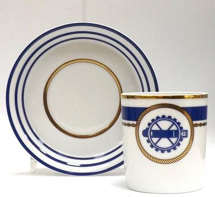 Чашка чайная с блюдцем Кают-компания №2, ф. Гербовая ИФЗ 81.21405.00.1