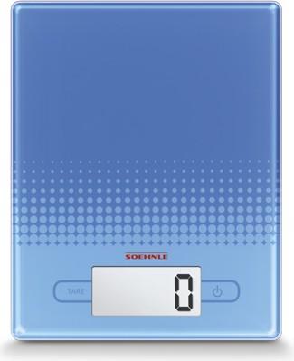 Весы кухонные электронные синие 5кг/1гр Soehnle City Blue 66191