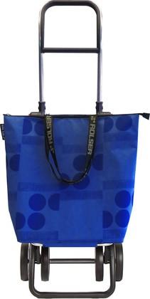 Сумка-тележка хозяйственная синяя Rolser LOGIC DOS+2 MINI BAG MNB019azul