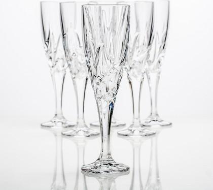 Фужеры для шампанского Эльза 180мл, 6 шт Crystalite Bohemia 1KD08/0/99Т81/180
