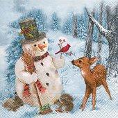 Салфетки для декупажа Снеговик, 33x33см, 3 слоя, 20шт Paper+Design 60808