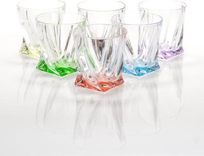 Стаканы для виски Квадро (Арлекино) 340мл, 6шт Crystalite Bohemia 99999/9/230177/340