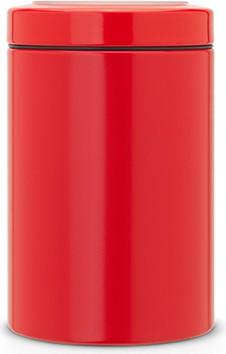 Контейнер с прозрачной крышкой 1.4л, сталь пламенно-красного цвета Brabantia 484049