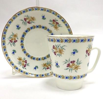 Чашка с блюдцем Голубые колокольчики с отводкой, ф. Майская ИФЗ 81.14021.00.1