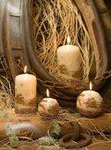 """Свеча """"Олени"""" пирамида 7х7х24см Bartek Candles 154031"""