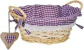 Корзинка для xлеба круглая, фиолетовая клетка, 23см Premier Housewares 1901051