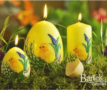 "Bartek Candles CHICKEN Свеча ""Цыплёнок"" - образ коллекции, колонна 60х130мм, артикул 5907602662832"