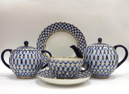 Сервиз чайный 6/20 Кобальтовая сетка, ф. Тюльпан ИФЗ 81.11141.03.1