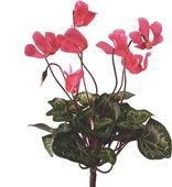 """Цветок искусственный """"Цикламен"""" букетик 25см тёмно-розовый мини Floralsilk 12090D-PI"""