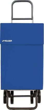 Сумка-тележка хозяйственная на колёсах синяя Rolser DOS+2 JEAN JEA006azul
