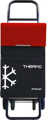 Термосумка-тележка хозяйственная чёрная с красным Rolser QUATTRE.2 THERMO TER039negro/rojo