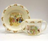 Посуда для малыша Кролики (тарелка/кружка с 2 ручками) 2 вида Royal Doulton ITRABU00932