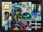 Картина стеклянная Футуризм 65x50см Top Art Studio LG1221-TA