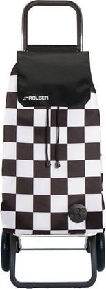 Сумка-тележка хозяйственная чёрно-белая Rolser RG MOUNTAIN MOU124blanco/negro