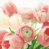 Салфетки для декупажа Букет тюльпанов, 33x33см, 3 слоя, 20шт Paper+Design 21662