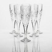 Фужеры для шампанского Эльза (ветренник) 180мл, 6 шт Crystalite Bohemia 1KD08/0/88327/180