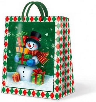 """Paw GALLANT SNOWMAN Пакет подарочный """"Снеговик"""", 20x25x10см, артикул AGB017803"""