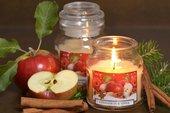 Свеча Фрукты с корицей (яблоко и апельсин), стакан Bartek Candles 5907602692440
