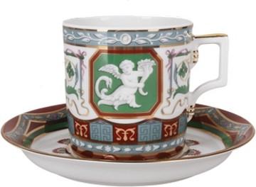 Чашка с блюдцем Античный, ф. Гербовая ИФЗ 81.24411.00.1