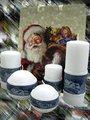 """Свеча """"Снежная"""" колонна 8х15см Bartek Candles 307014"""