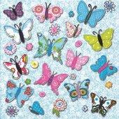 Салфетки для декупажа Ручные бабочки, 33x33см, 3 слоя, 20шт Paper+Design 21521