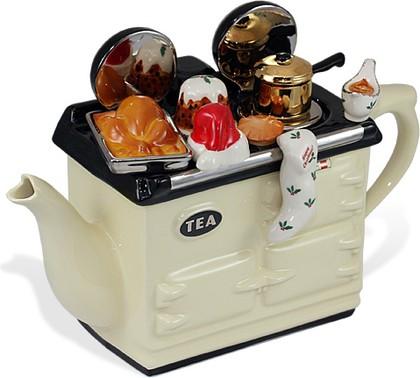 """Чайник заварочный """"Рождественский"""" (Christmas Aga Teapot) The Teapottery 4408"""