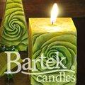 """Bartek Candles SAMBA Свеча """"Бутон"""", блок 70х70х90мм, артикул 5907602671759"""