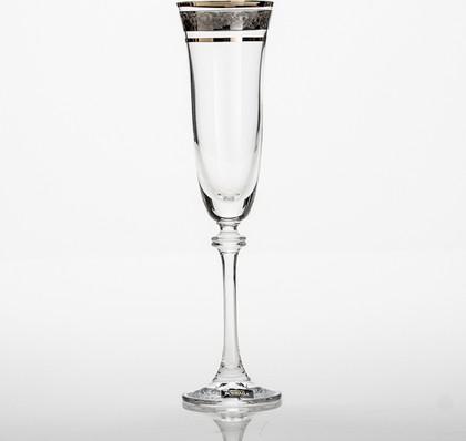 Фужеры 6шт Александра 190мл шампанское Crystalite Bohemia 1SD70/190/43249K