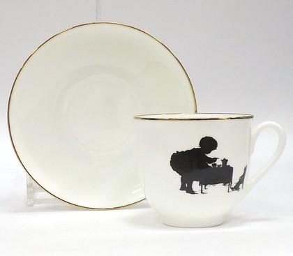 Чашка с блюдцем Силуэты. Чаепитие, ф. Ландыш 160мл ИФЗ 81.15707.00.1