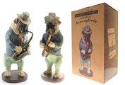 Статуэтка собака Саксофонист 40см The Leonardo Collection LP27585