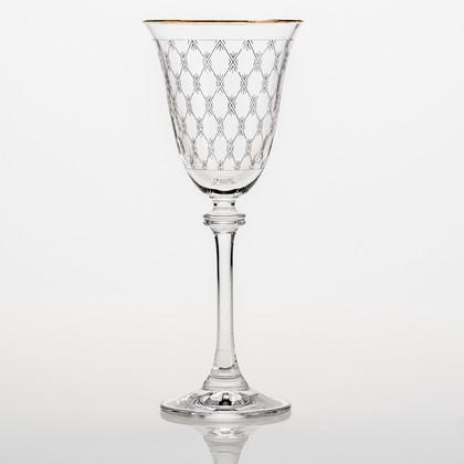 Фужеры 6шт Александра 185мл вино-сетка Crystalite Bohemia 1SD70/185/432232K