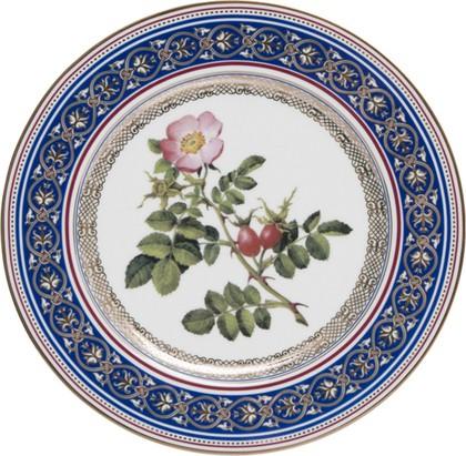 Тарелка декоративная Шиповник, ф. Европейская-2 ИФЗ 80.85949.00.1