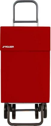 Сумка-тележка хозяйственная красная Rolser DOS+2 JEAN JEA006rojo